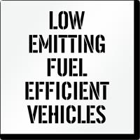 Low Emitting Fuel Efficient Vehicles Parking Stencil