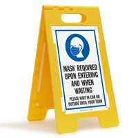 Mask Required Upon Entering And Waiting FloorBoss Sign