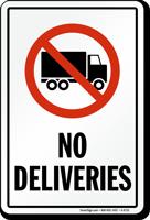 No Deliveries Truck Symbol Sign