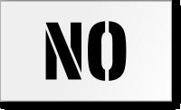 NO Floor Stencil