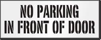 No Parking In Front Of Door Floor Stencil