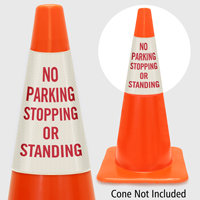 No Parking Stopping Or Standing Cone Collar