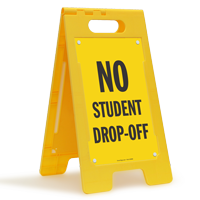 No Student Drop-Off Floor Sign