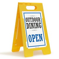 Outdoor Dining Open FloorBoss Sign