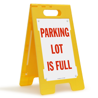 PARKING LOT IS FULL Sign