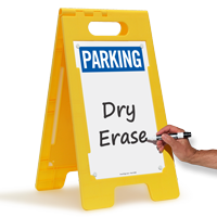 Write On Surface Parking Standing Floor Sign