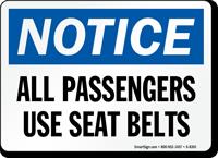 Passengers Use Seat Belts Sign