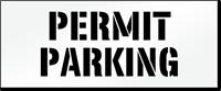 Permit Parking, Parking Lot Stencil