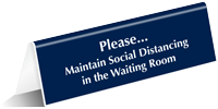 Please Maintain Social Distancing Tabletop Sign