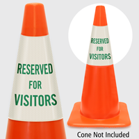 Reserved For Visitors Cone Collar