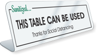 Sanitized This Table Can Be Used Desk Sign