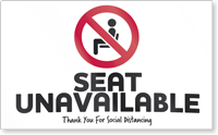 Seat Unavailable Social Distancing Seat Cover