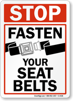 Stop Fasten Your Seat Belts Sign