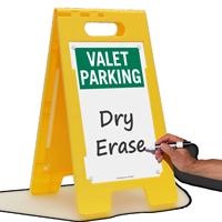 Valet Parking - Blank Standing Floor Sign