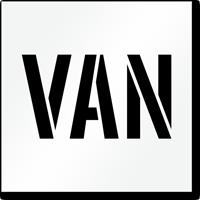Van Parking Lot Stencil