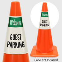 Welcome Guest Parking Cone Collar
