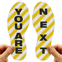 You Are Next Footprints Floor Marker With Stripes