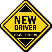 New Driver Car Hang Tag and Label