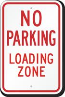 No Parking Loading Zone MUTCD Sign