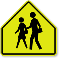 Pentagon School School Children Symbol Sign