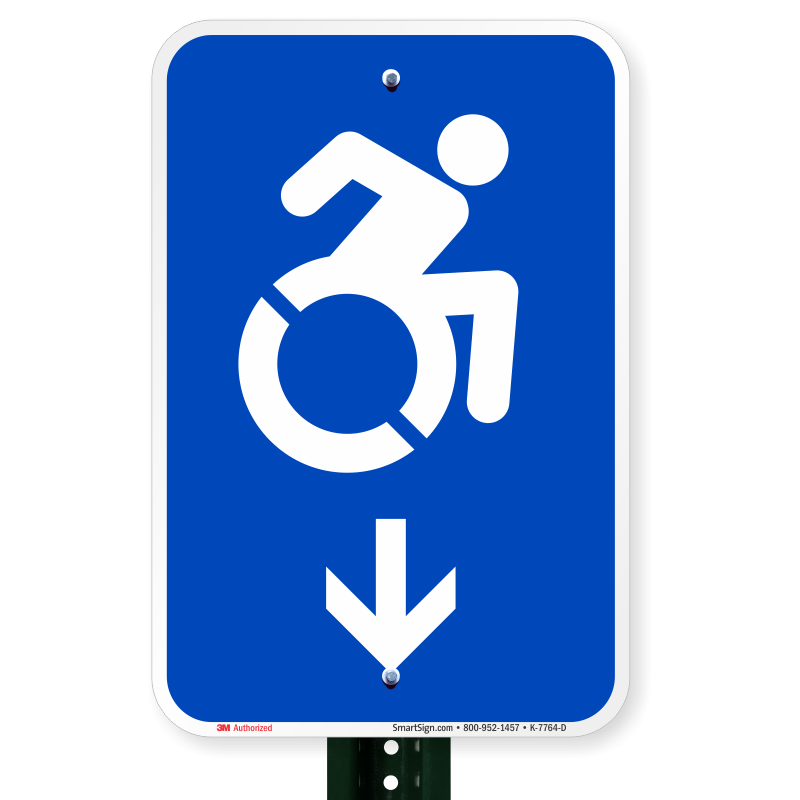 Accessible sign with down arrow online shop sku k 7764 d n for D sign shop