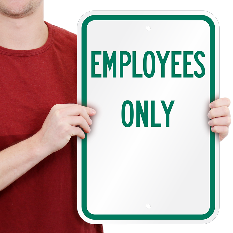 Employees Only Aluminum Sign Sku K 2629