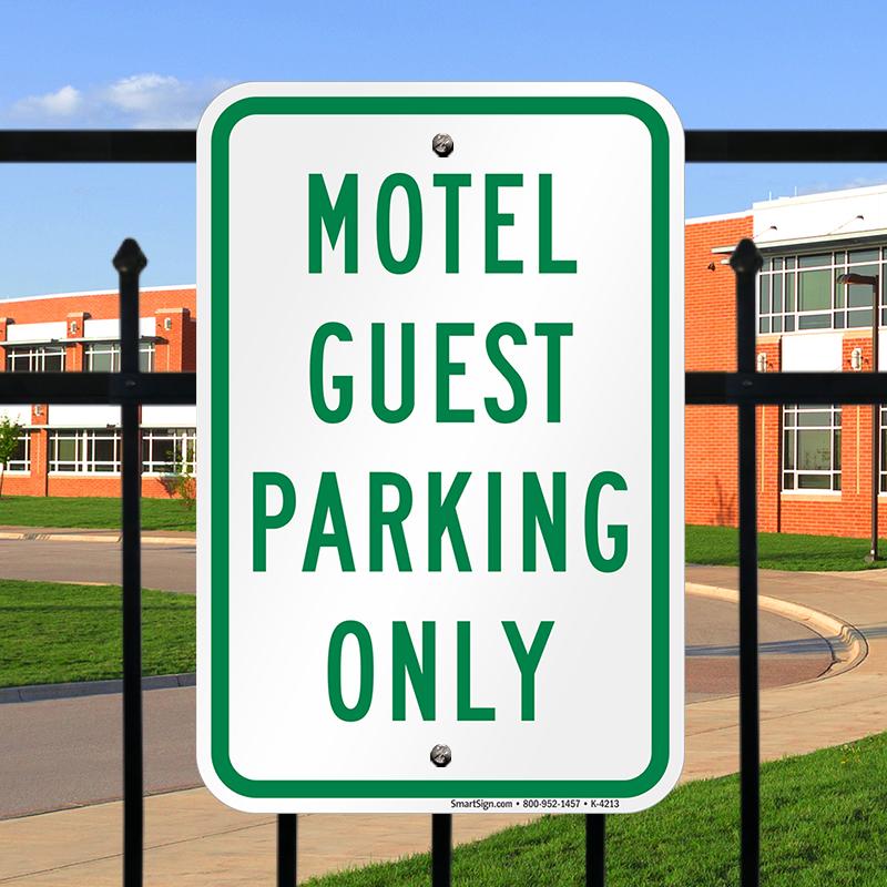 Motel Guest Parking Only Sign, SKU: K-4213