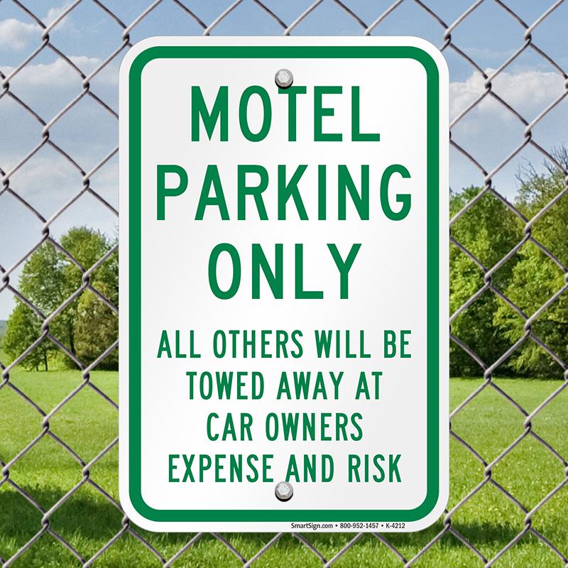Motel Parking Only Sign, SKU: K-4212