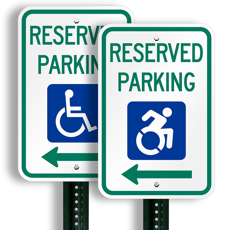 Reserved Parking Sign With New International Symbol Of Access Sku
