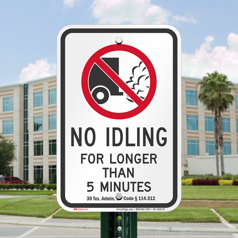 State Idle Sign for Texas, SKU: K2-1305-TX
