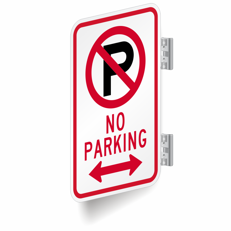 No Parking Sign Bidirectional Arrow Sign Double Sided Sign