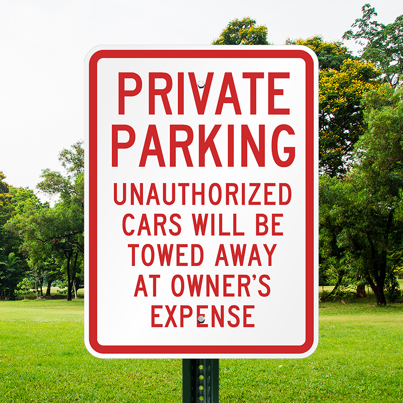 No Parking Anytime Yard Sign Violators Will Be Towed Away at Vehicle/'s Owner Expense Lawn Sign 24x18 Front /& Back Made in USA