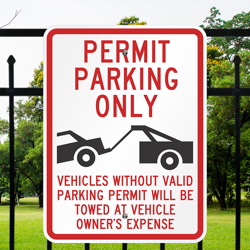 Permit Parking Only Parking Permit Sign Sku K 1171