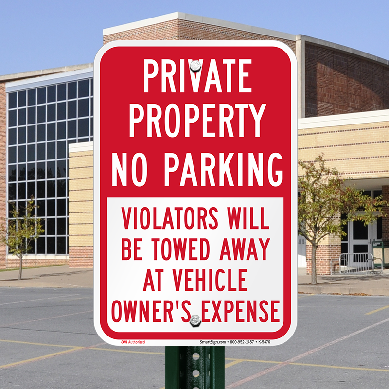 Private Property Violators Towed Away Sign, SKU: K-5476