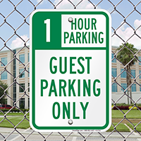 1 Hour Guest Parking Only Signs
