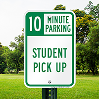 10 Minute, Time Limit Parking Signs
