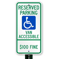 North Dakota Reserved Parking, Van Accessible Signs