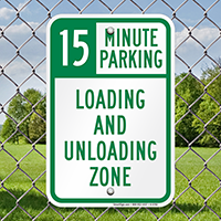 15 Minute, Time Limit Parking Signs