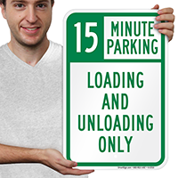 15 Minute, Time Limit Parking Sign