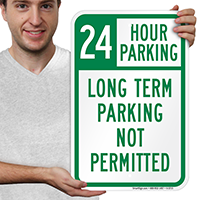 24 Hour Parking Signs