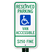 Illinois Reserved Parking, Van Accessible Signs