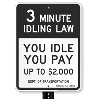 State Idle Signs for New York City