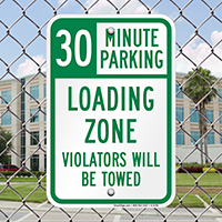 30 Minute, Time Limit Parking Sign