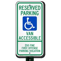 Alabama Reserved ADA Parking, Van Accessible Signs