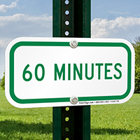 60 MINUTES Time Limit Parking Signs