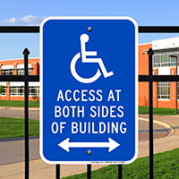 Access At Both Sides Building Signs (Bidirectional Arrow)