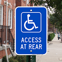 Access At Rear Signs (with Graphic)