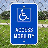 Access Mobility Handicap Parking Signs