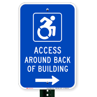 Access Around Back Of Building Parking Signs