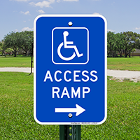 Access Ramp Handicap Parking Sign
